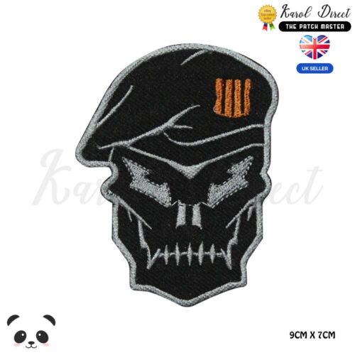 Call of Duty Black OPS Skull Face Embroidered Iron On Sew On PatchBadge