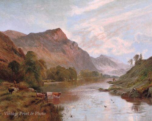 Dee at Ballater by Alfred De Breanski Art River Scotland Highland 8x10 Print 850