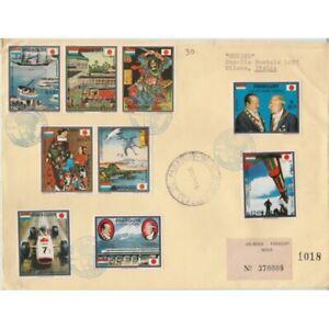 1973-Paraguay-Visit-Del-President-9-Values-Su-Envelope-FDC-Viaggiata-MF63234