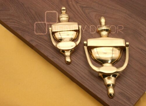 """Polished Brass 6/"""" or 8/"""" Door Knocker Victorian Urn Style UPVC Wooden Doors"""