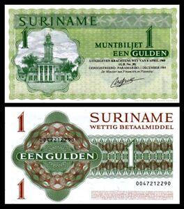SURINAME-1-GULDEN-1974-1960-P-116-UNC