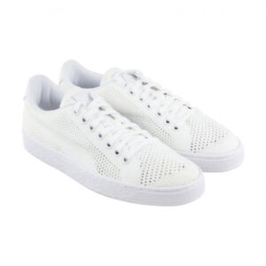 NEW - PUMA Men s BASKET CLASSIC EVOKNIT 36318004 White LACE UP SHOES ... 9bcc6d699