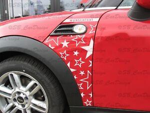 Kotfluegel-Aufkleber-Fender-Decal-STARS-f-BMW-MINI-COOPER-R56-STERNE-One-Works