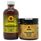 Tropic Isle Living Jamaican Black Castor Oil + Hair Food 4 Oz Duo