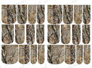 24-WATER-SLIDE-NAIL-ART-DECALS-REALTREE-INSPIRED-AP-CAMO-FULL-NAIL-COVERS