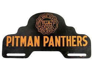 Pitman Panthers License Plate Topper High School Nj Vtg