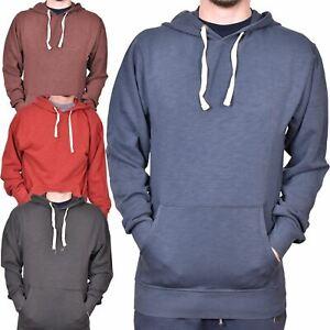 Plain Pullover Hooded Sweatshirt Mens Hoody Jumper Classic Work Wear Top HNL