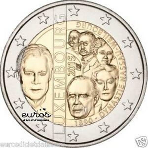 Piece-2-euros-LUXEMBOURG-2015-125-ans-de-la-dynastie-de-Nassau-Weilbourg-UNC