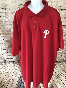 Philadelphia-Phillies-Majestic-Embroidered-Logo-Polyester-Polo-Sz-5X