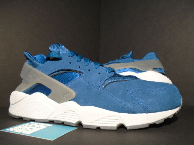 2014 Nike Air HUARACHE SUEDE EUROPE blueE FORCE COOL GREY PLATINUM 318429-403 12