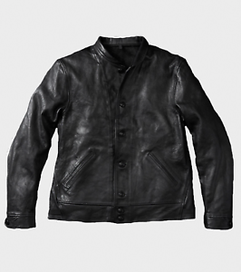 Nib Levis Vintage Clothing Einstein Black Menlo Cossack Leather Jacket L Lvc Ebay