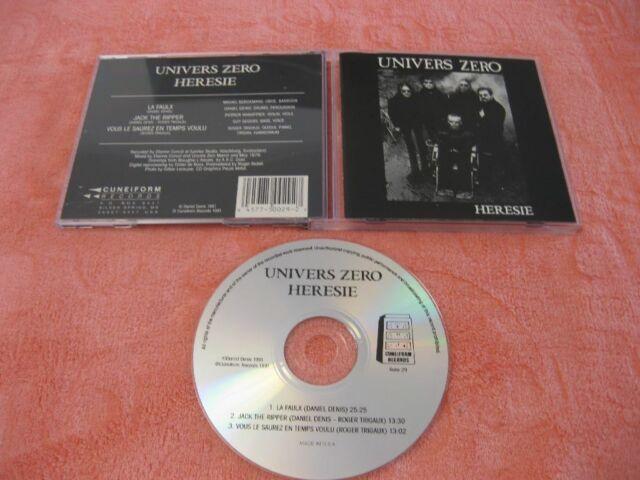 UNIVERS ZERO, Heresie (2nd album), CD, Cuneiform Records 1989, made in USA