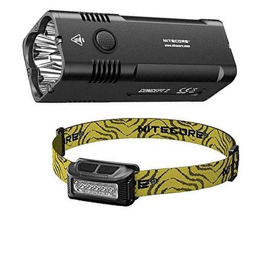NITECORE Concept 2 Taschenlampe   Searchlight -Eingebaute Batterie w NU10 Scheinwerfer