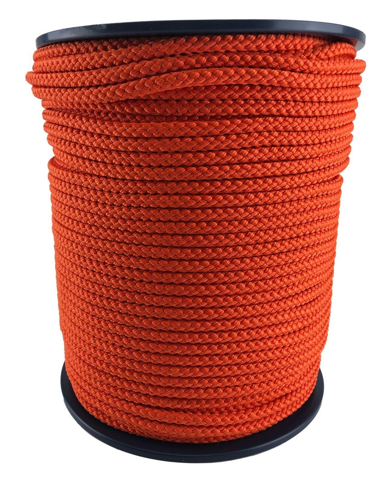 10mm orange Braided Polypropylene Rope Poly Line Sailing Boating