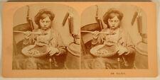 TOO HOT CHILD EATING FOOD CLOSE UP STEREOVIEW KILBURN