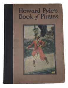 HOWARD-PYLE-039-S-BOOK-OF-PIRATES-1921-FIRST-EDITION-FOLIO-ILLUSTRATED