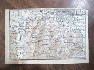 Cartina Topografica Emilia Romagna.Stampa Antica Old Map Mappa Carta Topografica Bologna Emilia Romagna 1924 Ebay