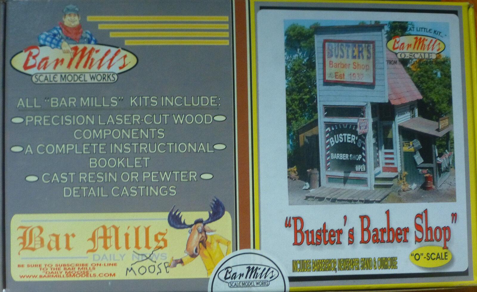 Bar Mills O Buster's Barber Shop -- Laser-Cut Wood Kit