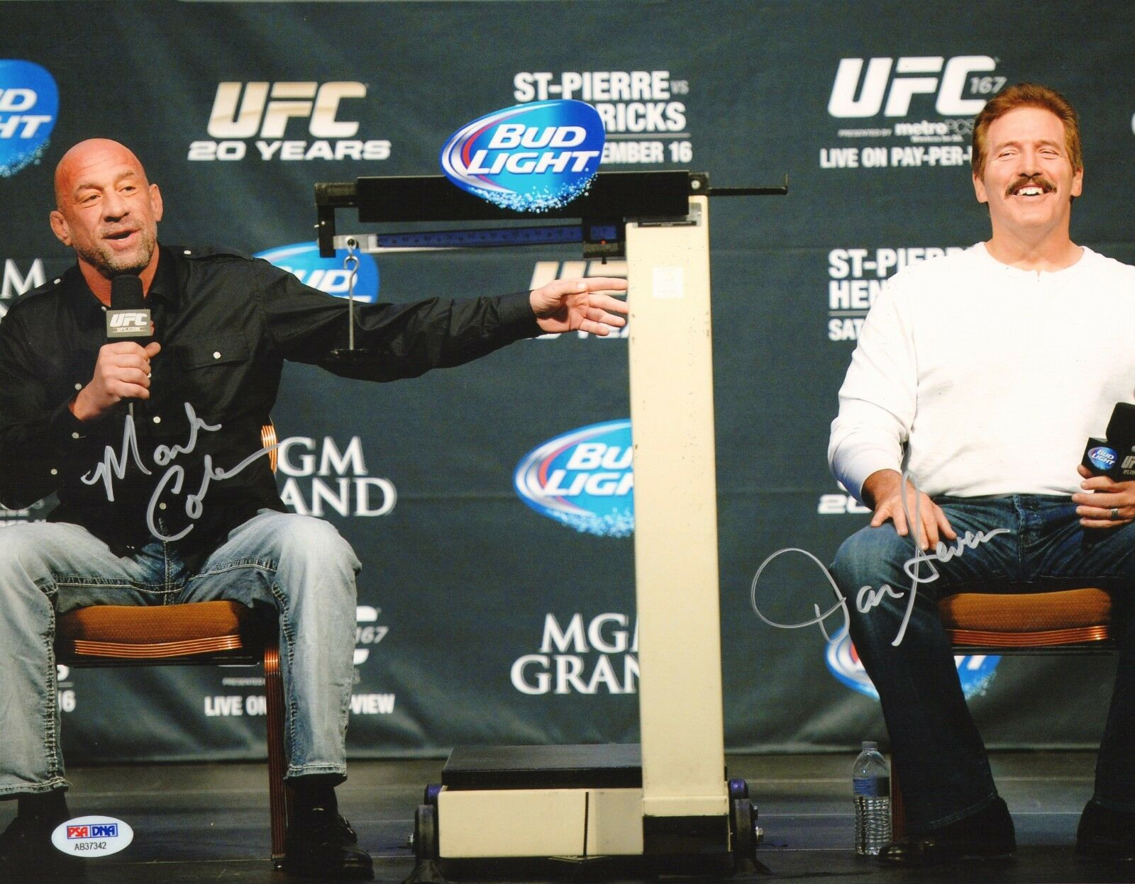 Dan Severn & Mark Coleman Firmado UFC 11x14 Foto PSA DNA COA Foto Autógrafo X