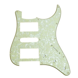 mint green pearl electric guitar hsh scratch plate. Black Bedroom Furniture Sets. Home Design Ideas