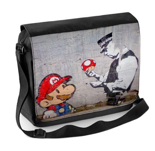 Banksy MARIO E RAME Laptop Messenger Bag