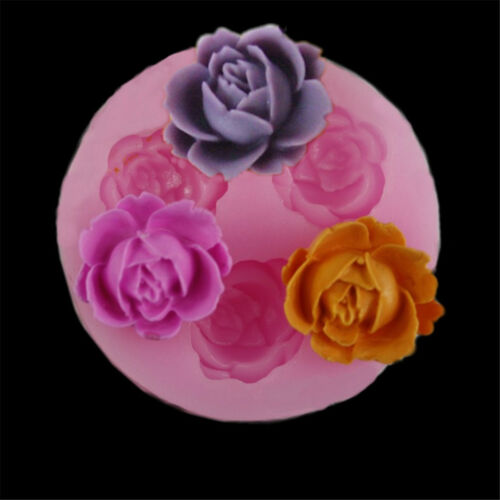 3D rose flower silicone fondant mold cake decor chocolate sugarcraft baking M/&C