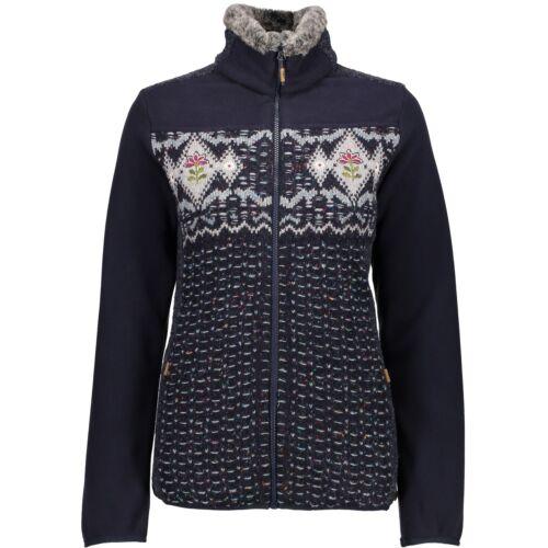 CMP Pinewood cuello chaqueta chaqueta lana azul bordado bolsillos ahumado