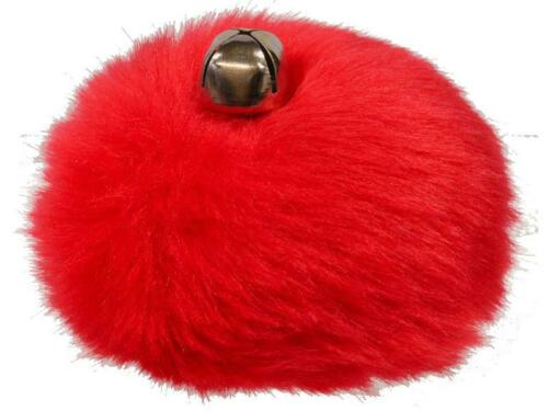 New Pair Red Tie-on Pom Poms with Jingle Bells Great for Roller Skates!