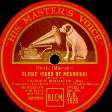 THEODOR CHALIAPINE -RUSSIAN BASS- Massenet: Elegie/Persian Love song 78rpm G3399