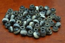 120 PCS CARVED STRIPE ROUND BUFFALO BONE BEADING BEADS 8MM #T-2809