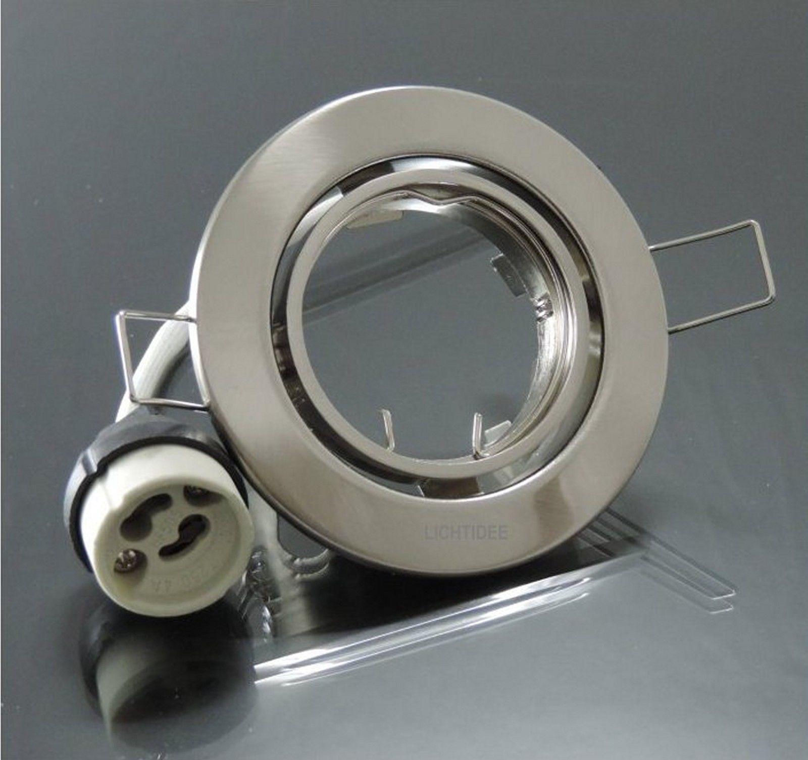 100 x Einbaustrahler Rahmen Spot schwenkbarFassung GU10 Eisen geb met  334 | Moderne und stilvolle Mode  | Neuheit  | Deutschland Frankfurt