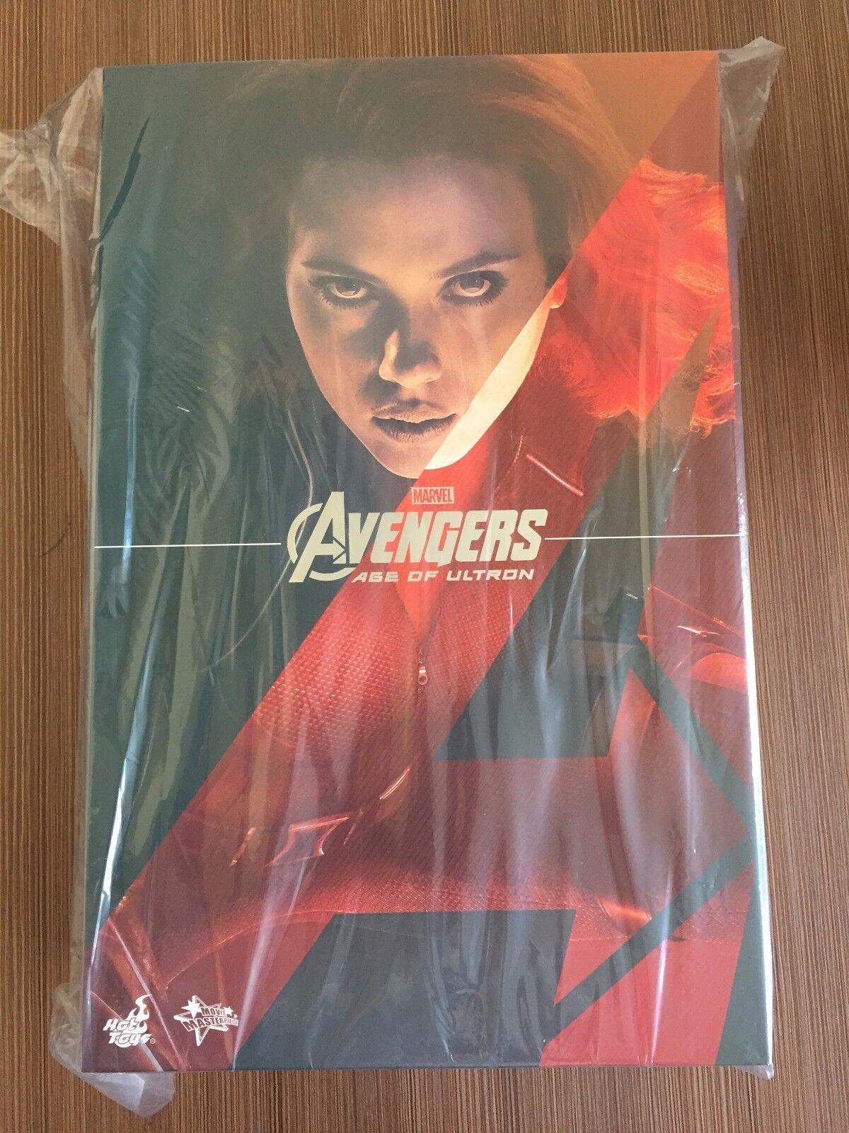 Hot Toys MMS 288 Vengadores Edad de Ultron aou Negro Widow Scarlett Johansson Nuevo
