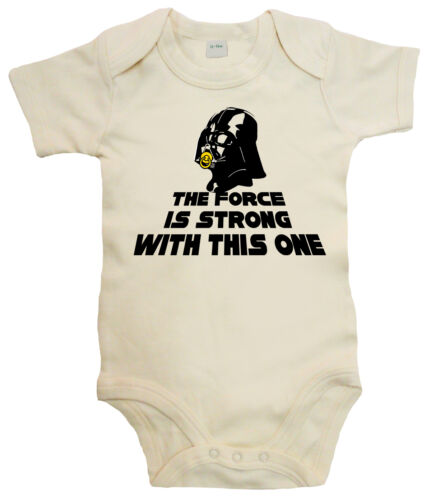 The Force is Stron Darth Vader Strampler Baby Body lustig Star Wars