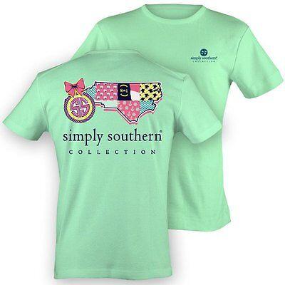 Simply Southern Womens Preppy North Carolina NC XL Extra Large T-Shirt Shirt