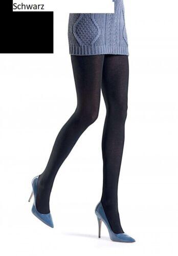 Oroblu Tights Tessie Strumpfhose Baumwolle Wolle Seide schwarz M=40-42