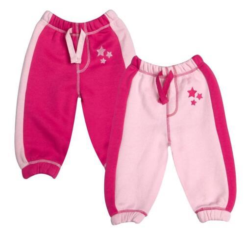 Baby town Baby Girls Fleece Jog Pants with stars