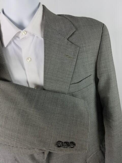 Mens Haggar Imperial Sport Coat Gray 42L Gentlemans Fit