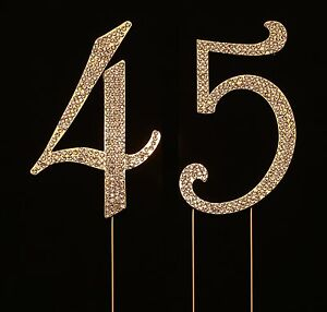 Numbrer 45 for 45th Birthday or Anniversary Cake Topper Party Decoration Supp...