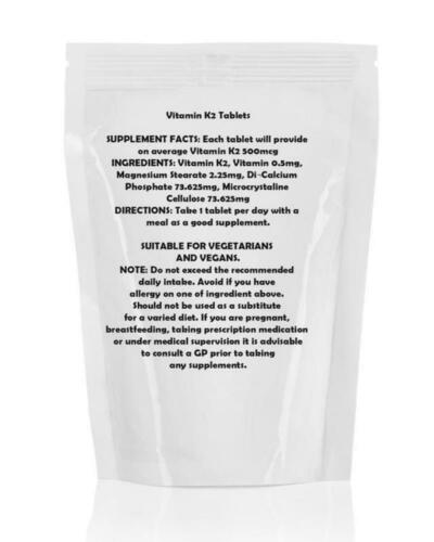 Vitamin K2 Menaquinone7 Veg 500mcg Tablets BritVits GB