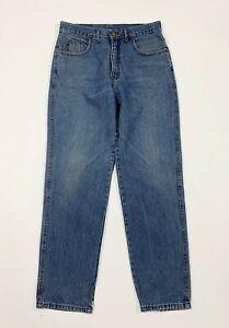 Armani-jeans-uomo-usato-vintage-W34-tg-48-denim-gamba-dritta-blu-boyfriend-T6472