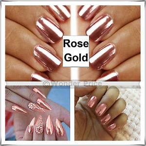 Mirror effect nail pigment powder shine nail art chrome magic rose image is loading mirror effect nail pigment powder shine nail art prinsesfo Choice Image
