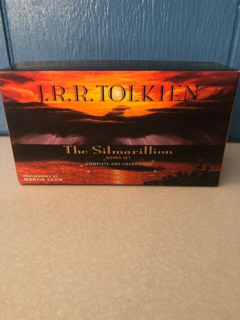 J.R.R Tolkien The Silmarillion By Martin Shaw 12-Audio Cassette Boxed Set
