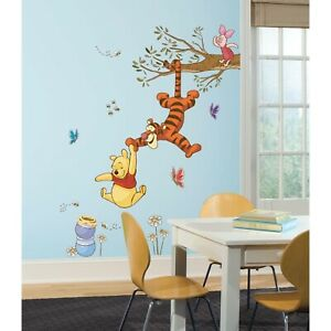 Details About Winnie The Pooh Tigger Swing For Honey Wall Decals Disney Nursery Stickers