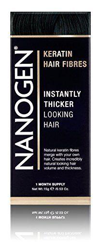 Nanogen Keratin Thickening Hair Fibres, 15 g, Black