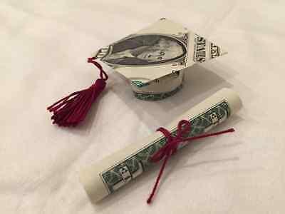 GRADUATION CAP Money Origami | Money origami, Dollar origami ... | 300x400