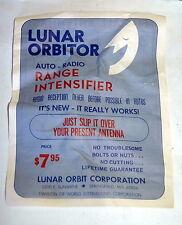 VINTAGE Lunar Orbitor Auto RV  Radio Antenna Range Intensifier Extender  Silver