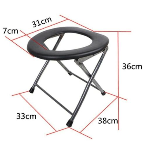Outdoor Portable Toilet Travel Camp Folding Potty Urine Chair Seat Climb Fishing