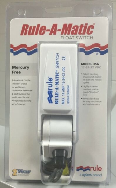 Rule-A-Matic Float Switch MODEL 35A 12-24-32 Volt RWB22 2 Yr Warranty Brand New