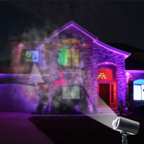 Outdoor Garden Christmas Snowing RGB Santa LED Kaleidoscope Projector Landscape