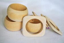 Wholesale Sample Set A - Lot of 7 Unfinished Wooden Wood Bangle Bracelets DIY